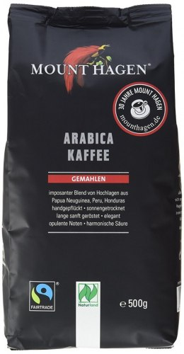 KAWA MIELONA ARABICA FAIR TRADE BIO 500 g - MOUNT HAGEN